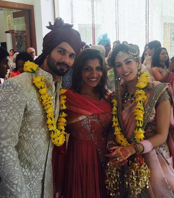 Shahid Kapoor and Mira Rajput's Marriage pics