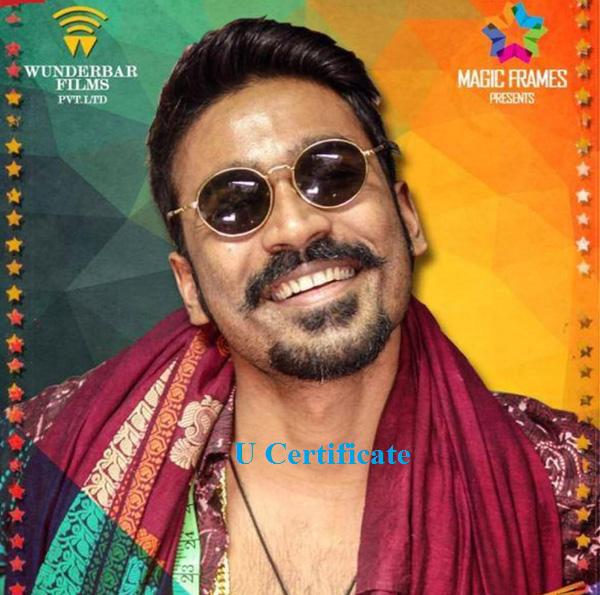 dhanush-maari-movie-censor-report-u-certificate
