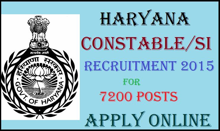 Haryana Police Recruitment Notification 2015