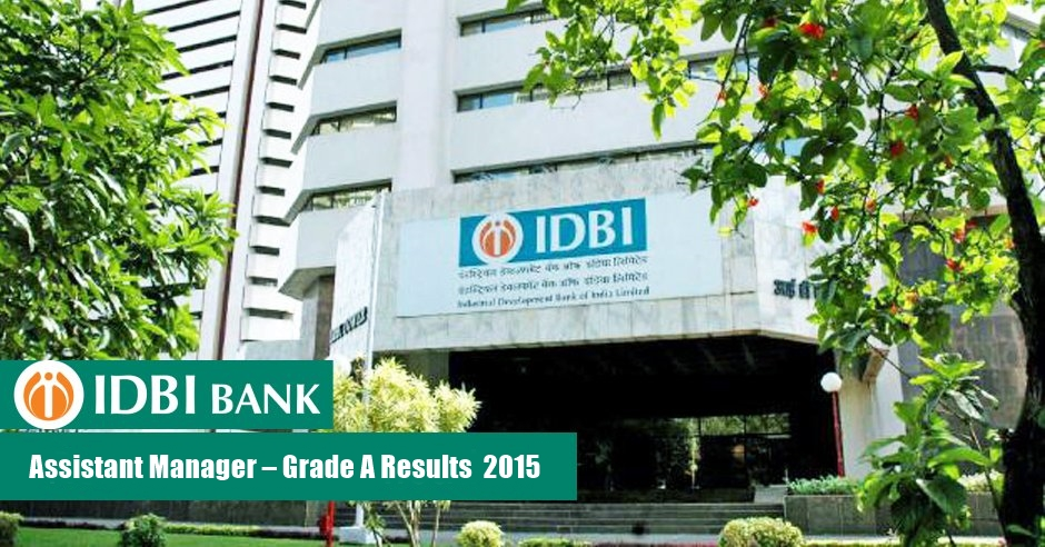 IDBI Assistant Manager 2015 Results