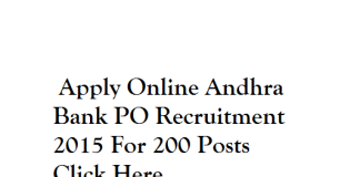Andhra-Bank-PO-Recruitment-2015