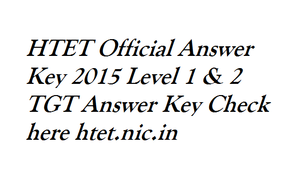 HTET-Official-Answer-Key-2015