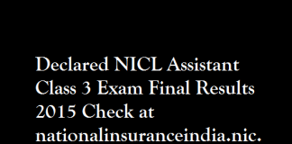 NICL-Assistant-Class-3-Exam-Final-Results-2015