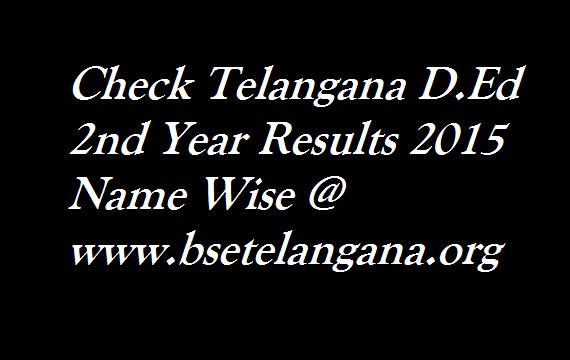 Telangana-D.Ed-2nd-Year-Results-2015-Name-Wise @ www.bsetelangana.org