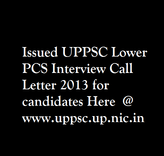 UPPSC-Lower-PCS-Interview-Call-Letter-2013