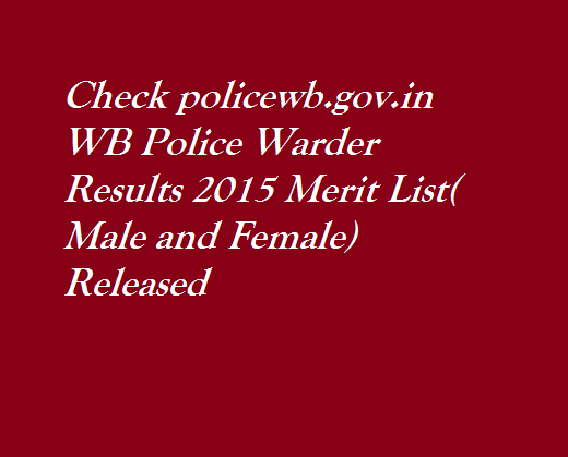 WB-Police-Warder-Results-2015-Merit-List-Male-Female