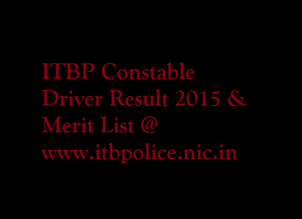 ITBP-Constable-Driver-Result-2015