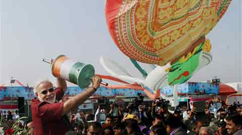 Narendra-Modi-flying-kite-on-makar-sankranti-2016