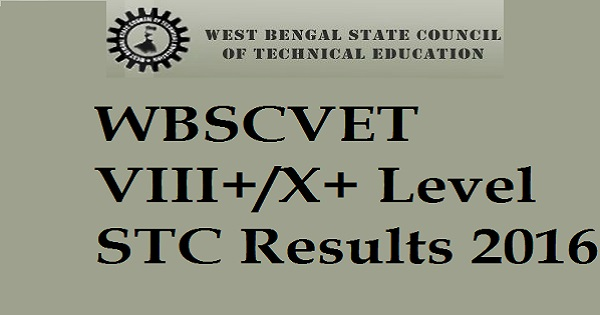 WBSCVET VIII+/X+ Level STC Results 2016