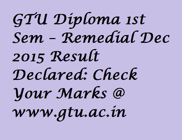 GTU Diploma 1st Sem