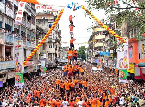 Janamastami festival celebration in mumbai