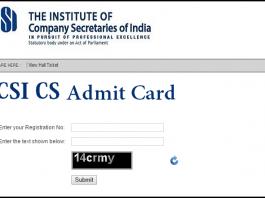 ICSI Admit Card