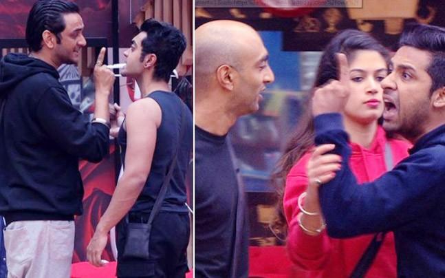 Puneesh Sharma throws his shoe at Akash Dadlani