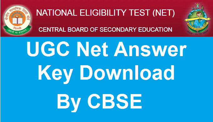 CBSE UGC NET Answer key