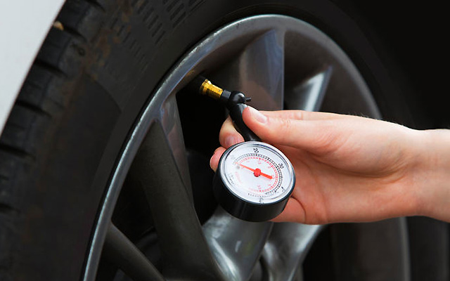 Regularly check the pressure on the Tyres