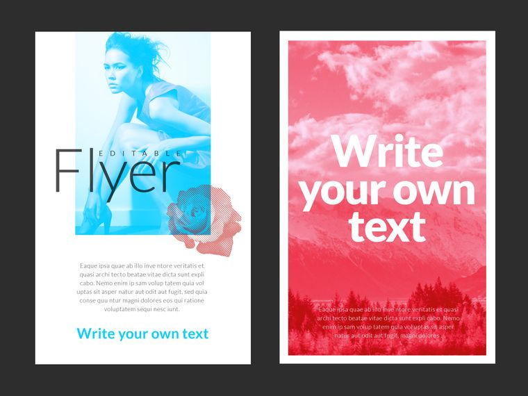 Add text to your custom flyer.