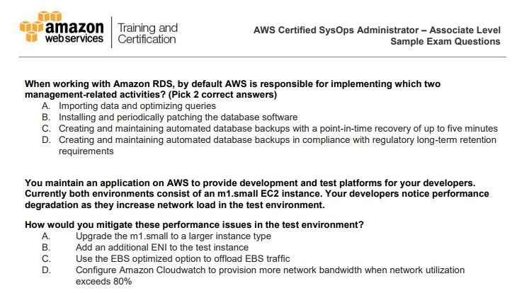 AWS-certification-exam-question-pattern