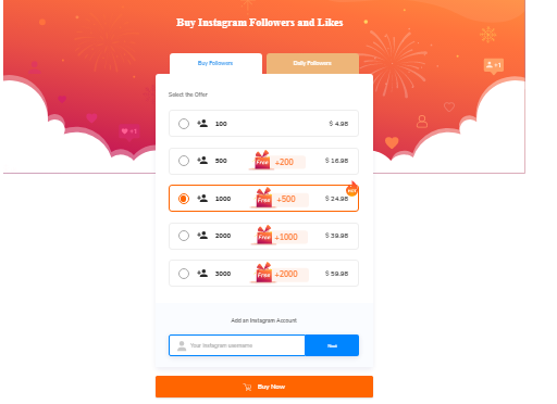 Buy instagram followers and like