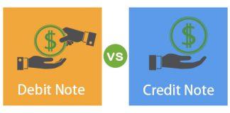 Comparison Credit Note vs Debit Note