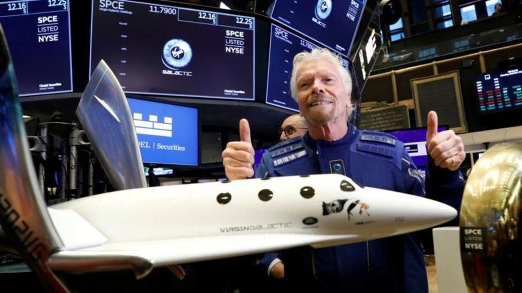 Richard Branson Virgin Galactic Flight