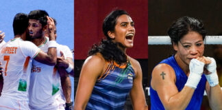 Indian players bring laurels to the country; At Tokyo Olympics 2020, Day 10 PV Sindhu and Men's Hockey Team win.