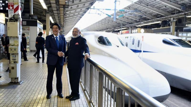 mumbai ahmedabad bullet train india