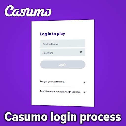 casumo login page / process
